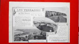 Ancienne Pub Les Terrasses,la Ville Nouvelle, Le Tréport-Mers, - Advertising