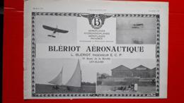 Ancienne Pub Blériot Aéronautique,aéroplanes,hydroplanes à  Levallois - Publicités