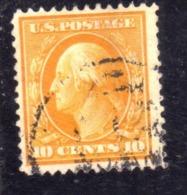 USA STATI UNITI 1912 1914  PRESIDENTS BENJAMIN FRANKLIN PRESIDENT CENT. 10c USED USATO OBLITERE - Estados Unidos