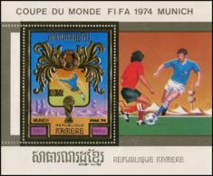 Cambodge  YT BF 33DMi# Block 103A MNH  Timbre Or, Gold  Football - Cambodge