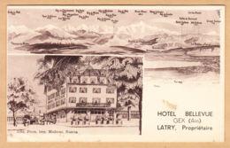 CPA Gex, Hotel Bellevue, Latry, Proprietaire, Ungel. - Gex