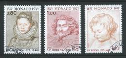 MONACO 1977 .  N°s 1098 , 1099 Et 1100  . Oblitérés . - Oblitérés