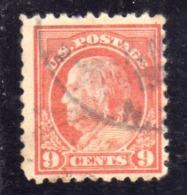 USA STATI UNITI 1912 1914  PRESIDENTS BENJAMIN FRANKLIN PRESIDENT CENT. 9c USED USATO OBLITERE - Etats-Unis
