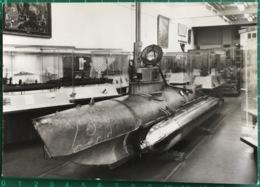 German One-man Biber Submarine, Imperial War Museum ~ Black & White Photo Postcard - Equipment
