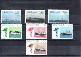 Feroe Nº 73-75 + Nº 18-21 Tema Barcos, Series Completas En Nuevo 20,25 € - Dinamarca