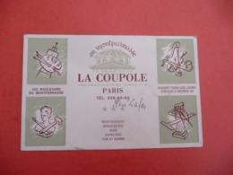 LA COUPOLE  PARIS MONTPARNASSE - Cartes De Visite