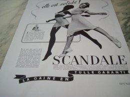 ANCIENNE PUBLICITE ELLE EST SOLIDE CORSET GAINES SCANDALE  1939 - Vintage Clothes & Linen