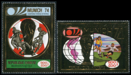 No. 384-385 Cambodia 1973 MNH Gold Stamps - Cambodge