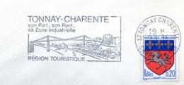 Tourisme, Tonnay-Charente, Pont- Flamme Secap - Enveloppe Entière  (V443) - Autres Collections