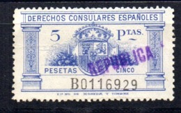 Fiscal Derecho Consular De 5  Pts Azul. - Fiscales
