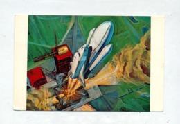 Carte Centre Spatial Kennedy Dessin Artiste Navette Flamme - Vereinigte Staaten