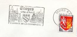 Tourisme, Troyes, Capitale Champagne- Flamme Secap - Enveloppe Entière  (V445) - Autres Collections