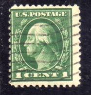 USA STATI UNITI 1912 1914  PRESIDENTS BENJAMIN FRANKLIN PRESIDENT CENT. 1c USED USATO OBLITERE - Estados Unidos