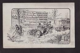 CPA Publicité Cycle Cyclisme Voiture Publicitaire Réclame Non Circulé Torrilhon - Werbepostkarten