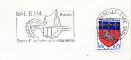 Tourisme, Marseille, Ecole Ingénieurs, Bal- Flamme Secap - Enveloppe Entière  (V446) - Autres Collections