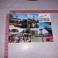 C-76568 SALUTI DA CATTOLICA HOTEL KURSAAL PANORAMA CHIESA MERCATO - Italie