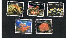 SINGAPORE   -  SG 742.749  -    1994  REEF-LIFE     -  USED ° - Singapore (1959-...)