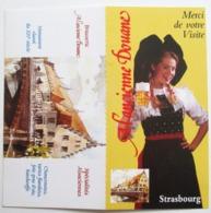 CPM NON ECRITE RESTAURANT STRASBOURG A L ANCIENNE DOUANE CHOPE DE BIERE ALSACIENNE BRASSERIE ALSACE - Werbepostkarten