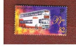 SINGAPORE   -  SG 880  -    1997  TRANSPORTS: BUS     -  USED ° - Singapore (1959-...)