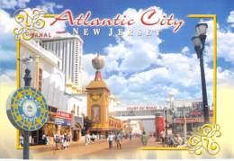 ** Lot Of 2 Postcards ** USA Etats Unis ( NJ New Jersey) ATLANTIC CITY Boardwalk And Casinos - CPM Grand Format - Casino - Atlantic City