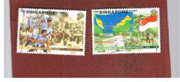 """SINGAPORE   -  SG 939.941  -    1998  """"THE  SINGAPORE STORY""""    -  USED ° - Singapore (1959-...)"""