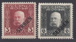 SERBIA - 1916 - Lotto Di 2 Valori Nuovi MNH: Yvert 3 E 5. - Serbien