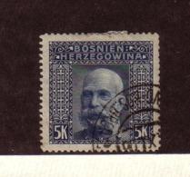 BOSNIE-HERZEGOVINE 1906  YVERT N°44 OBLITERE - Bosnië En Herzegovina