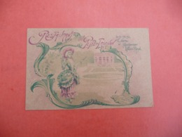 Restaurant Au PETIT TRIANON PALAIS ROYAL CV 1902 - Visiting Cards