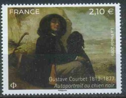 France 2019 Art, Paintings Of Gustave Courbet, Self Portrait - France
