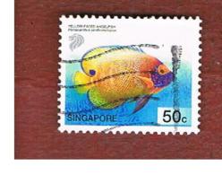SINGAPORE - SG 1132 -  2001 TROPICAL MARINE FISHES: POMACANTHUS XANTOMETOPON  (MISTAKE) -  USED ° - Singapore (1959-...)