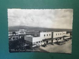 Cartolina Villa S. Giovanni - Stazione Ferroviaria - 1961 - Reggio Calabria