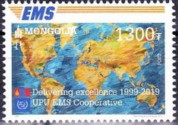 MONGOLIA, 2019, MNH , EMS,1v - Correo Postal
