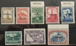 MEXICO 1934 OFFICIAL Service, Small Line Black Ovpt. Set, Scott O216-O223 Mint Never Hinged NH - Mexique