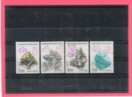 4 Valeurs ** ( Série Nature De France Minéraux ) - Postzegels