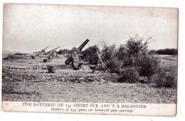 5857 - Une Batterie De 155 Court Sur Affut à Balancier - Laureys édit. - - Equipment