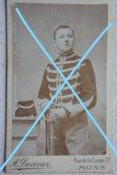Photo ABL Cavalerie Pre 1914 Région Mons Chasseur à Cheval Ou Lancier Lansier ? Militaria Belgische Leger - Guerre, Militaire