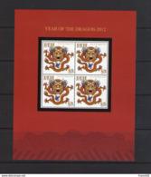 Fidji. Année Du Dragon 2012. Bloc Feuillet - Fiji (1970-...)