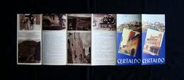 Certaldo Pieghevole Turistico Anni 30 AGAF Firenze Turismo - Vecchi Documenti