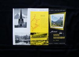Pieghevole Turistico Hotel Siusi Allo Sciliar Alto Adige Villa Hermes Dolomiti - Vecchi Documenti