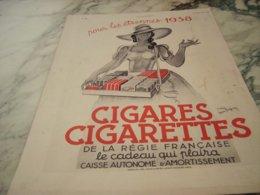 ANCIENNE PUBLICITE CIGARES CIGARETTE LES ETRENNE 1938 - Tabac (objets Liés)