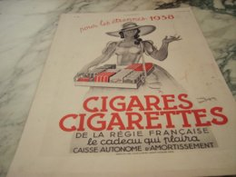 ANCIENNE PUBLICITE CIGARES CIGARETTE LES ETRENNE 1938 - Raucherutensilien (ausser Tabak)