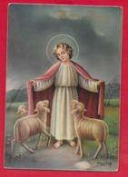 CARTOLINA VG ITALIA - BUONA PASQUA - Cristo Pastore - P. Ventura - CECAMI 7337 LUCIDA - 10 X 15 - 1963 - Ostern