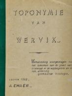 Toponymie Van Wervik - A. Emaer - Libros, Revistas, Cómics