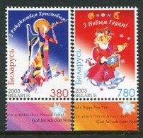 BELARUS 2003 Christmas And New Year  MNH /**.  Michel 509-10 - Belarus
