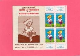 Carnet  ( Protégez Vos Poumons ) 2 Scan - Vignetten (Erinnophilie)