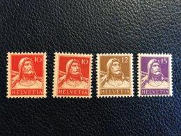 Schweiz 1914 Zumstein-Nr. 126I Und 126II ** Postfrisch Und Nr. 127 Und 128 * Ungebraucht Mit Falz - Suiza