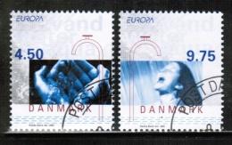 CEPT 2001 DK MI 1277-78 USED DENMARK - 2001
