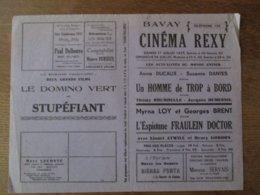 BAVAY CINEMA  REXY 17 ET 18 JUILLET 1937 UN HOMME DE TROP A BORD ET L'ESPIONNE FRAULEIN DOCTOR - Programme
