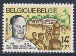 Belgie Belgique Belgium 1978 Mi 1972 YT 1915  SG 2547 ** Father Dominique Pire - Nobel Peace Prize (1958) / - Nobel Prize Laureates