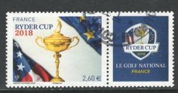 Frankrijk, Yv Uit Blok 144  Jaar 2018,  Ryder Cup,  Hoge Waarde, Gestempeld - Gebraucht